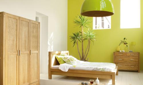 Chambre Verte Et Beige | Mobilier & Décoration