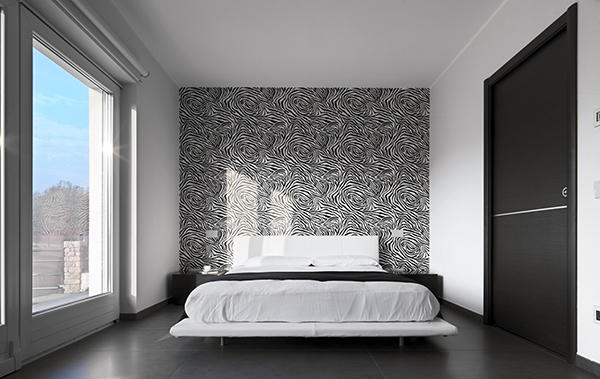 decoration de chambre a coucher avec papier peint visuel 3. Black Bedroom Furniture Sets. Home Design Ideas