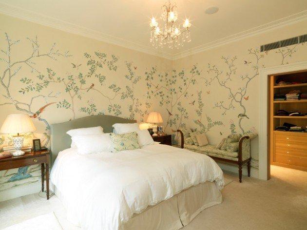 decoration de chambre a coucher avec papier peint visuel 7 - Papier Peint De Chambre A Coucher
