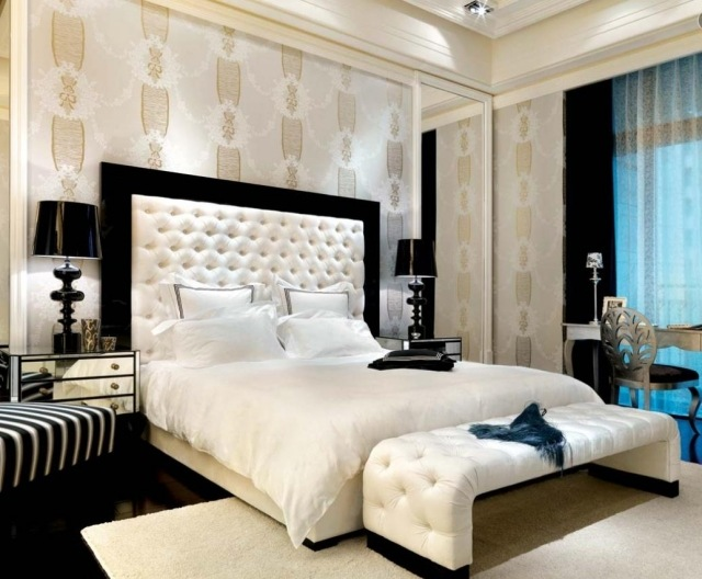 decoration de chambre a coucher avec papier peint visuel 8. Black Bedroom Furniture Sets. Home Design Ideas