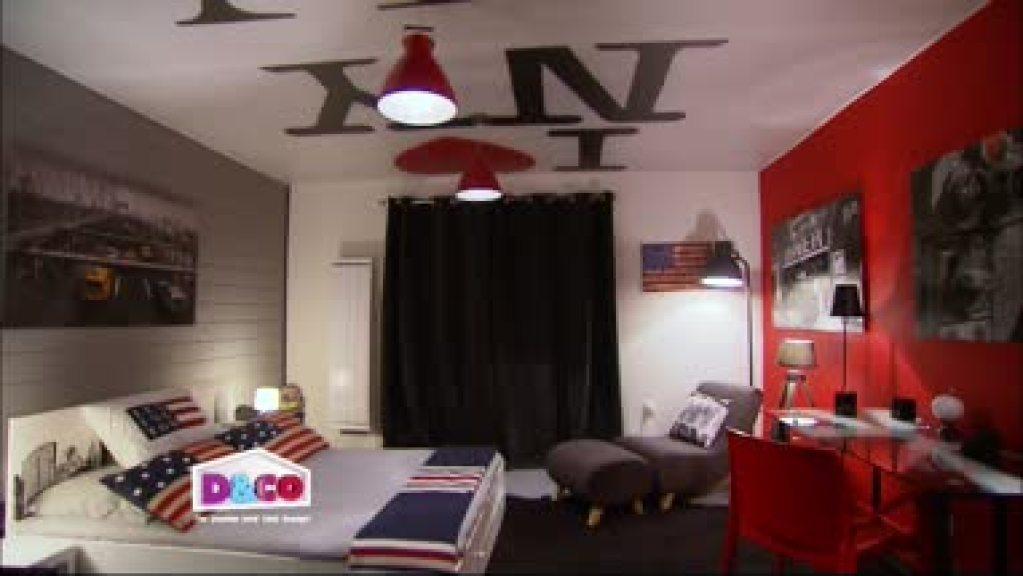 Decoration De Chambre En New York Visuel