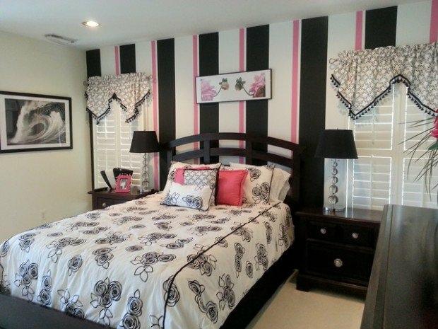 decoration de chambre rose et noir visuel 9 - Chambre Rose Et Noir
