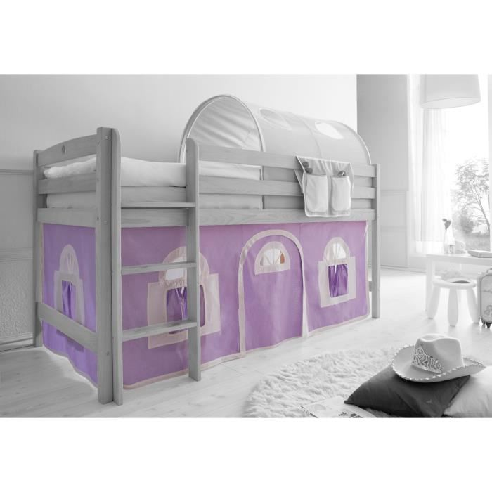 rideau lit mi hauteur. Black Bedroom Furniture Sets. Home Design Ideas