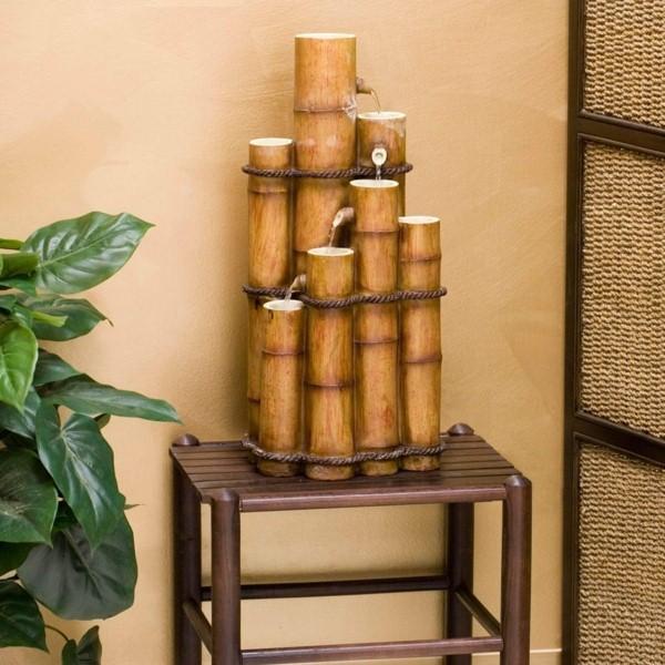 une decoration avec du bambou