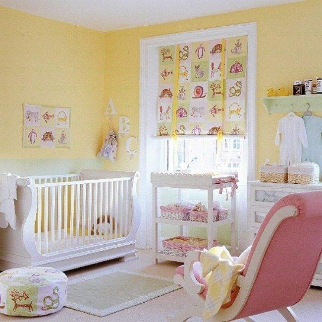 idee deco chambre bebe jaune - visuel #7