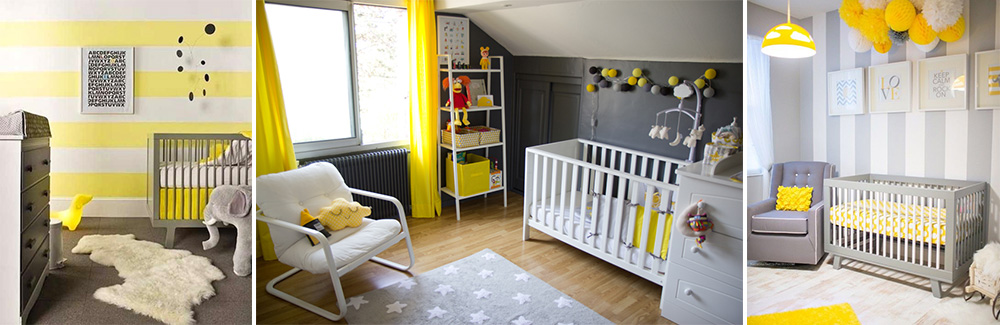 awesome decoration chambre bebe jaune photos. Black Bedroom Furniture Sets. Home Design Ideas