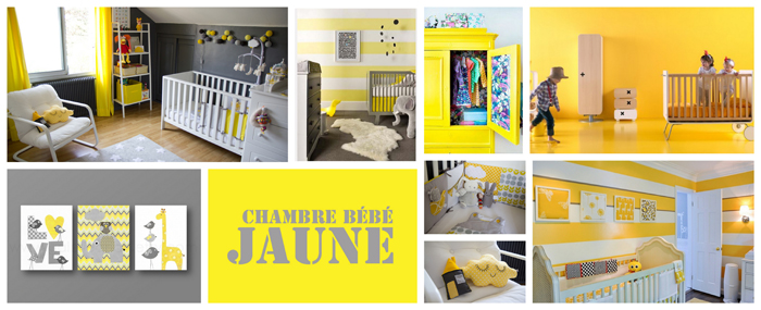 idee deco chambre bebe jaune. Black Bedroom Furniture Sets. Home Design Ideas