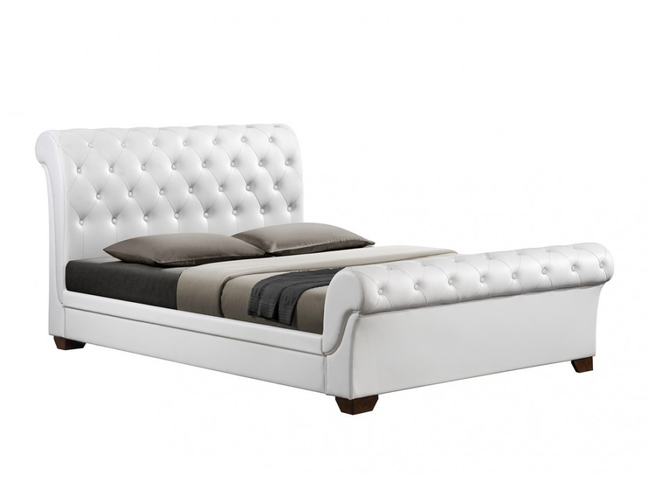 bout de lit blanc chesterfield. Black Bedroom Furniture Sets. Home Design Ideas