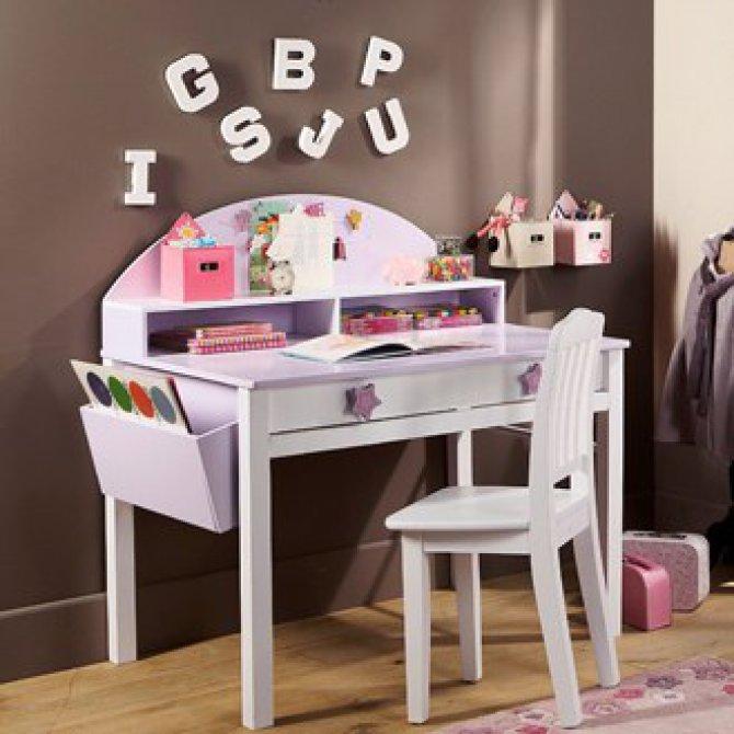bureau pour fille bureau pour fille de 6 ans bureau pour chambre de fille visuel 7 bureau. Black Bedroom Furniture Sets. Home Design Ideas