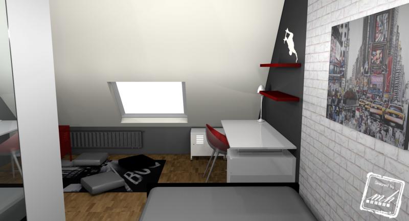 deco chambre ado dans les combles - visuel #8