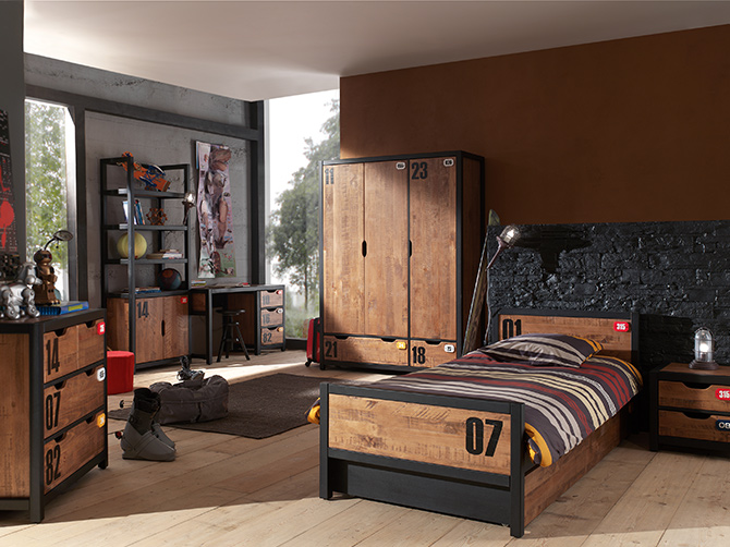 deco chambre ado industriel visuel 3. Black Bedroom Furniture Sets. Home Design Ideas