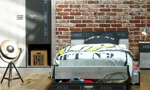 deco chambre ado industriel visuel 5. Black Bedroom Furniture Sets. Home Design Ideas