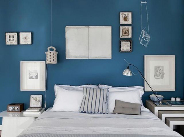 deco chambre adulte bleu - visuel #7