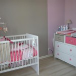 deco chambre bebe fille rose et taupe