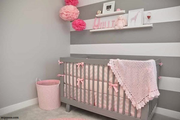 deco chambre bebe fille taupe et rose. Black Bedroom Furniture Sets. Home Design Ideas