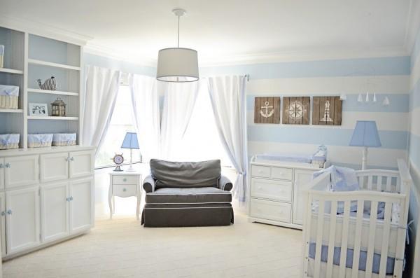 decoration chambre bebe marin