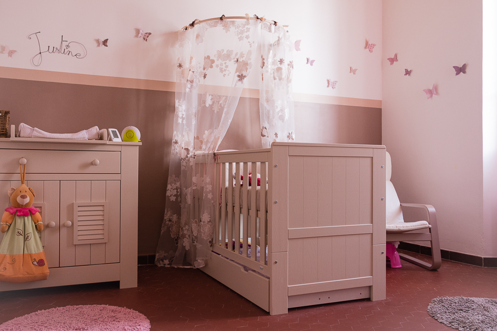 deco chambre bebe taupe rose - visuel #4