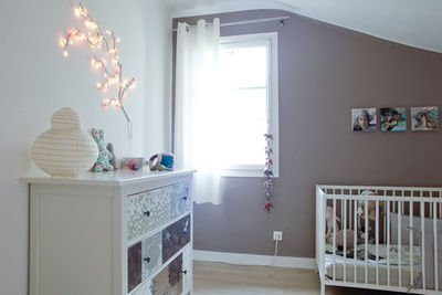 deco chambre bebe taupe rose - visuel #8