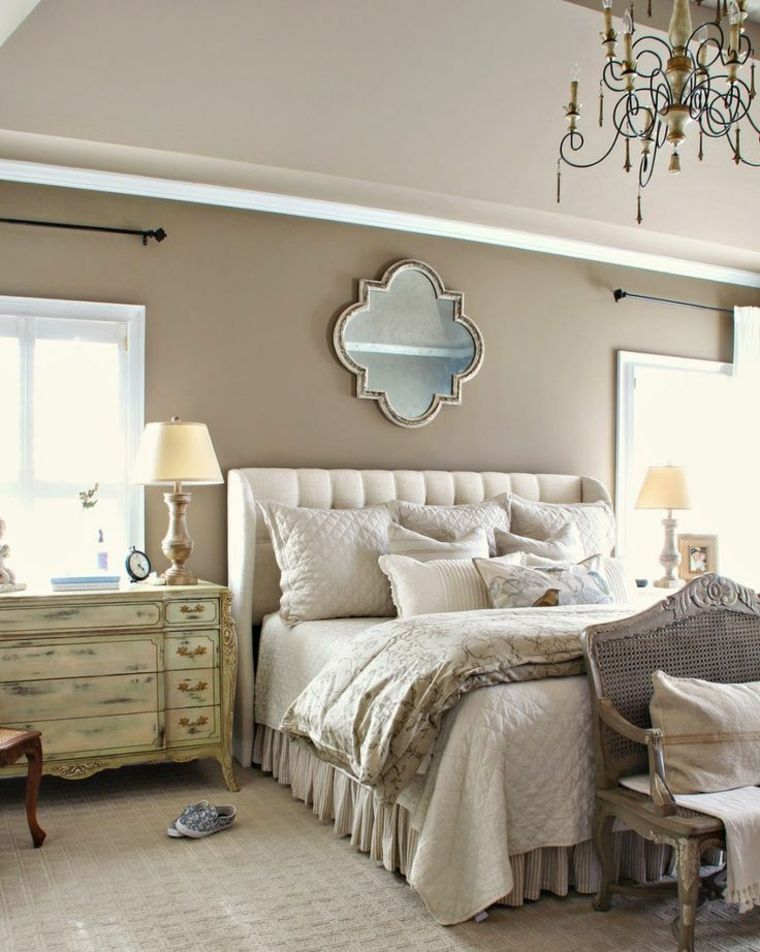 Beautiful chambre beige et blanche images for Chambre blanc beige