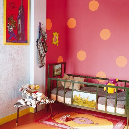 deco chambre fille rose orange - visuel #2