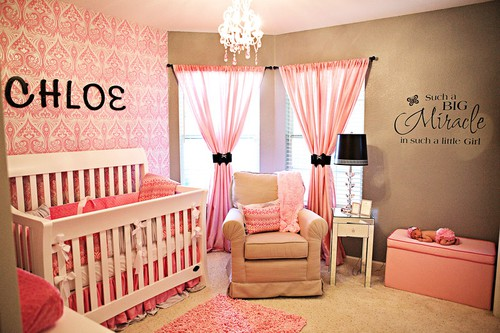 deco chambre fille rose orange - visuel #3