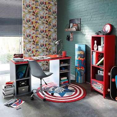 deco chambre garcon super heros. Black Bedroom Furniture Sets. Home Design Ideas