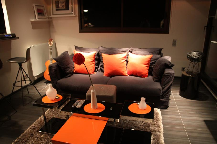 Awesome Deco Chambre Orange Et Gris Pictures - lalawgroup.us ...