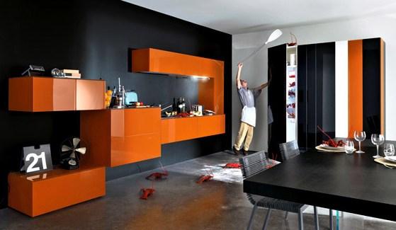 deco chambre orange et noir - visuel #6