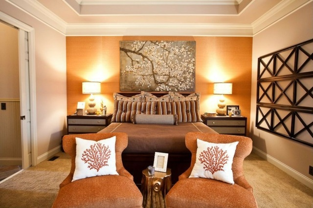 deco chambre orange et noir - visuel #9