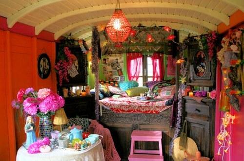 decoration interieur de roulotte