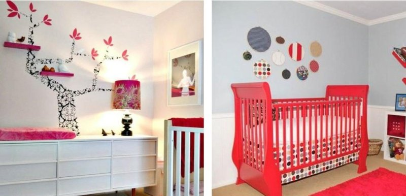 Decoration chambre bebe fille idee - Decoration murale chambre bebe ...