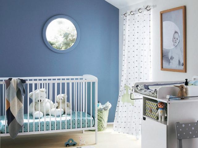 Peinture Chambre Bébé Garçon Bleu Gris
