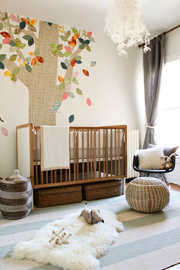 decoration chambre bebe naturel