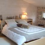 decoration chambre lambris blanc