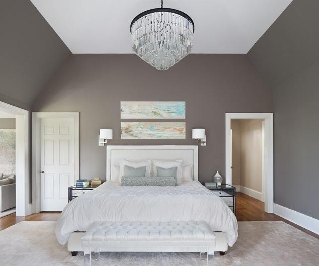 decoration chambre taupe blanc - visuel #2