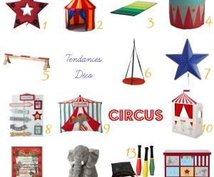decoration chambre theme cirque