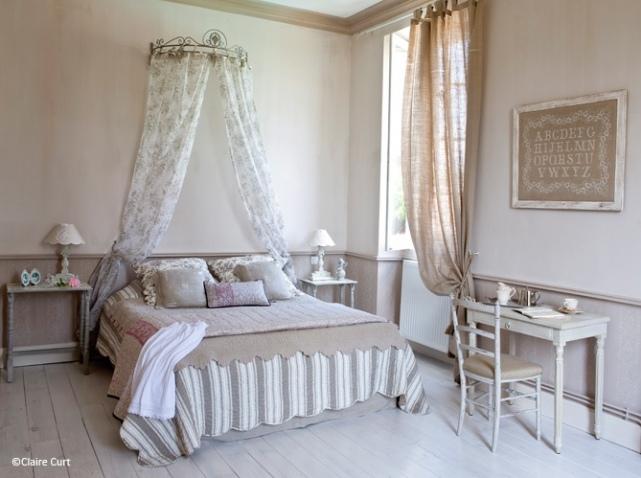 Emejing Chambre Style Romantique Contemporary - Sledbralorne.com ...