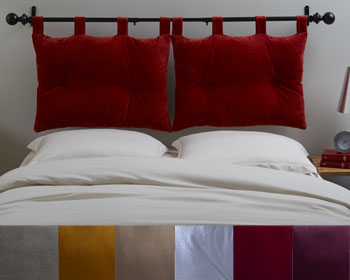 Decoration tete de lit coussins visuel 5 - Comment faire une tete de lit en tissu ...