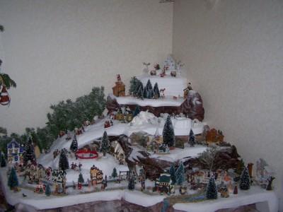 Fabriquer deco village de noel visuel 3 - Decor village noel miniature ...