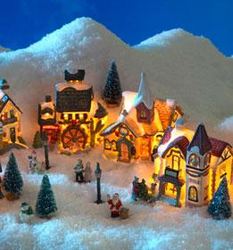 Deco village de noel - Idee decoration creche noel ...