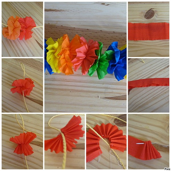 Faire decoration avec papier crepon visuel 2 - Fleur en crepon facile ...