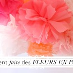 faire decoration avec papier crepon