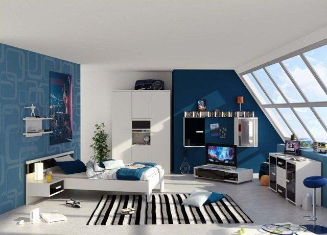 idee deco chambre ado bleue