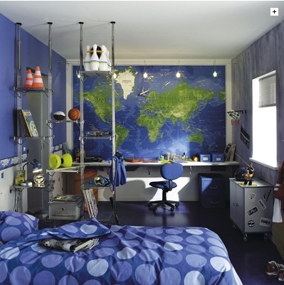 idee deco chambre ado bleue visuel 6. Black Bedroom Furniture Sets. Home Design Ideas