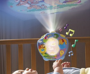lampe bebe projection plafond