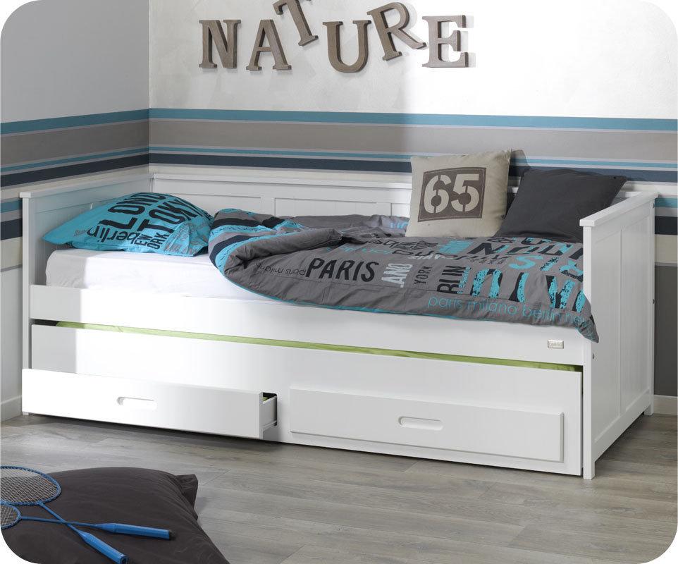 Lit Avec Tiroir De Rangement Affordable Lit Gigogne Maja Deluxe En - Lit avec tiroir et etagere