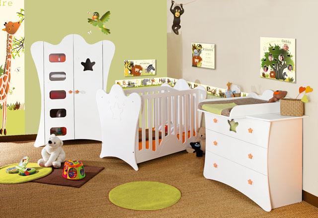 Amazing Chambre Bebe Orange Et Marron de Design - Photos et idées ...