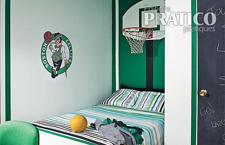 Decoration chambre garcon basket Theme decoration chambre garcon