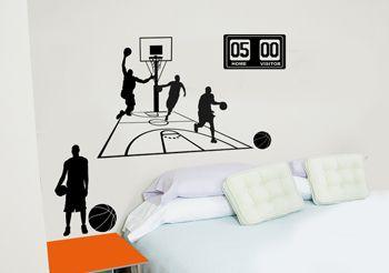 decoration de chambre basketball