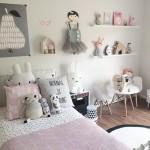 idee deco chambre fille rose et gris